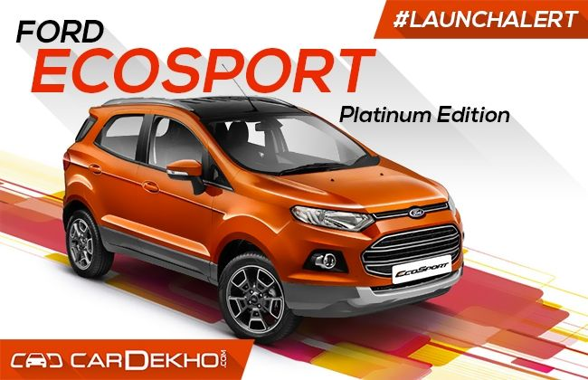 Ford EcoSport Platinum Edition Launched At Rs 10.39 Lakh | CarDekho.com  sc 1 st  CarDekho.com & Ford EcoSport Platinum Edition Launched At Rs 10.39 Lakh ... markmcfarlin.com