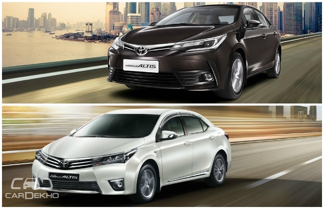 old vs new toyota corolla altis variant wise price and features comparison. Black Bedroom Furniture Sets. Home Design Ideas