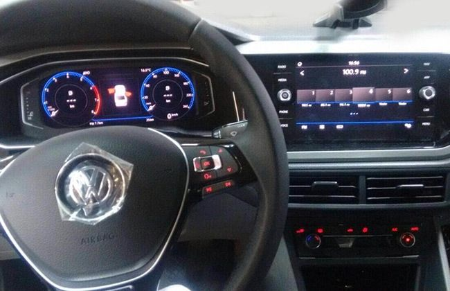 next gen volkswagen vento spied undisguised. Black Bedroom Furniture Sets. Home Design Ideas