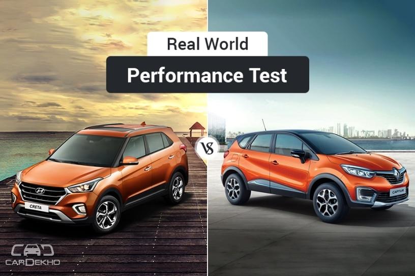 Hyundai Creta 2018 vs Renault Captur: Real-World Performance Comparison