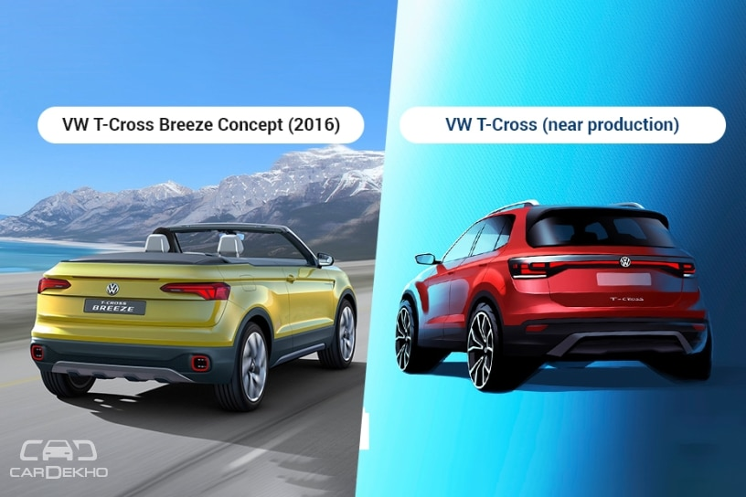 Volkswagen T-Cross Breeze vs T-Cross (near-production)
