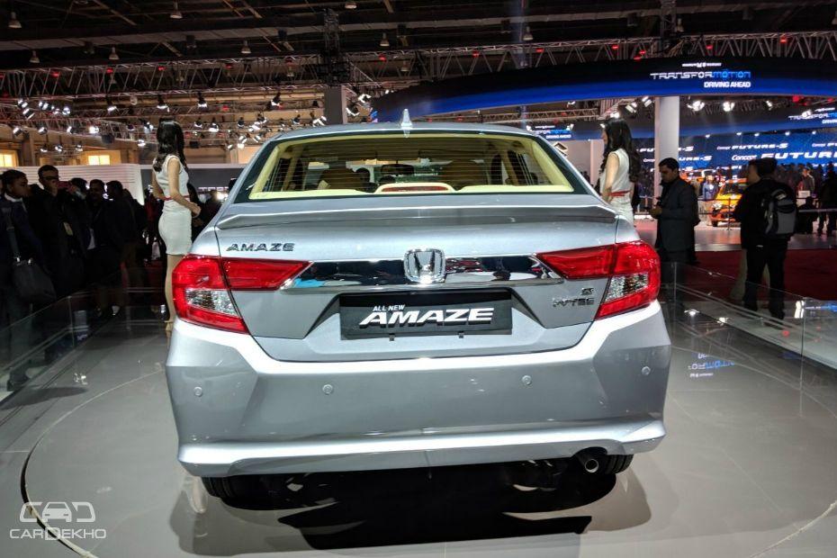 2018 Honda Amaze Rear View