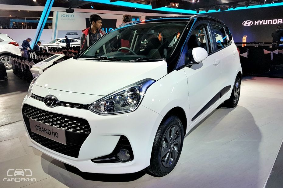 hyundai grand i10 dual tone revealed at auto expo 2018. Black Bedroom Furniture Sets. Home Design Ideas