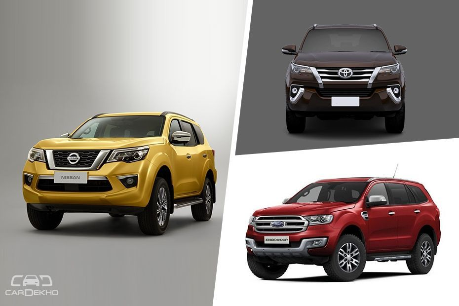 Nissan Terra, Toyota Fortuner and Ford Endeavour