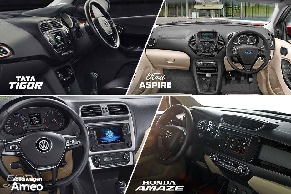 New Honda Amaze 2018 vs Ford Aspire vs Tata Tigor vs VW Ameo: Spec Comparison