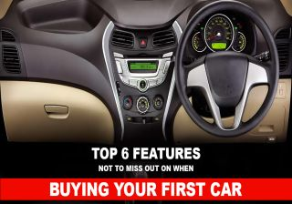 Top 6 Features Not To Miss Out On When Buying Your First Car