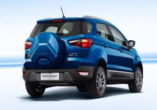 india bound ford ecosport facelift with tailgate mounted spare wheel revealed in china cardekhocom
