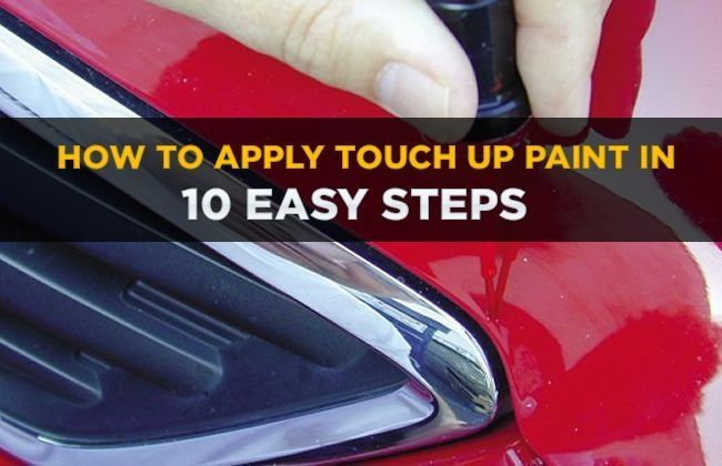 How To Apply Touch Up Paint On My Car