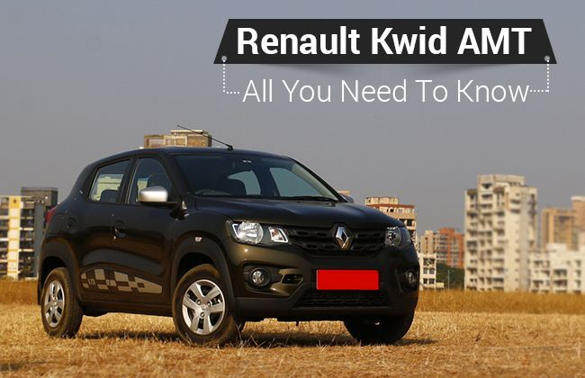 renault kwid amt all you need to know. Black Bedroom Furniture Sets. Home Design Ideas