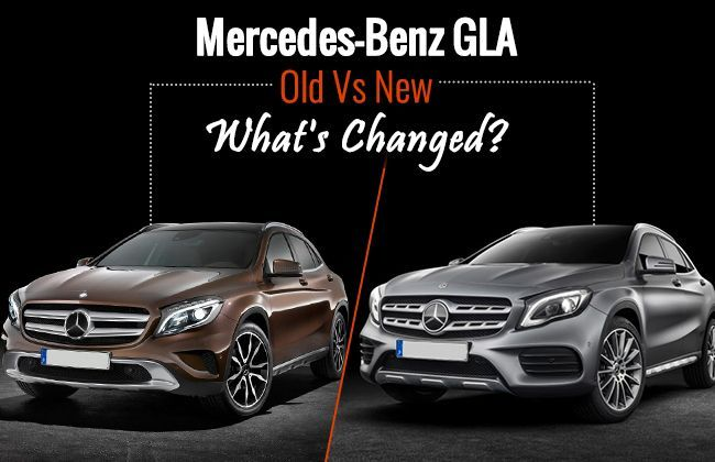 mercedes benz gla old vs new what 39 s changed. Black Bedroom Furniture Sets. Home Design Ideas