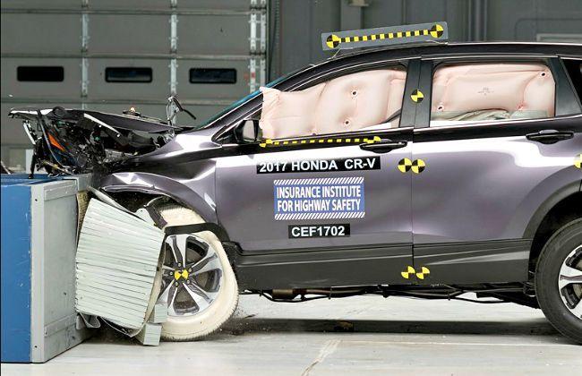 India bound fifth gen honda cr v excels in crash test for Honda crv crash test