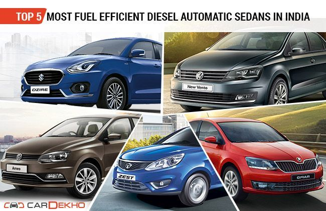 Top 5 Most Fuel Efficient Diesel Automatic Sedans In India