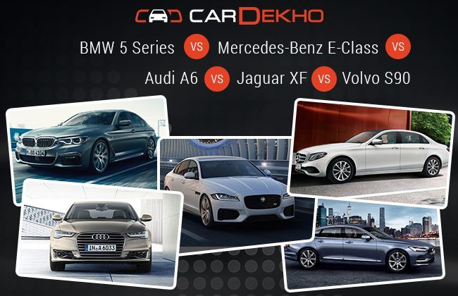Bmw 5 Series Vs Mercedes Benz E Class Vs Audi A6 Vs Jaguar Xf Vs Volvo S90 Specs Comparison