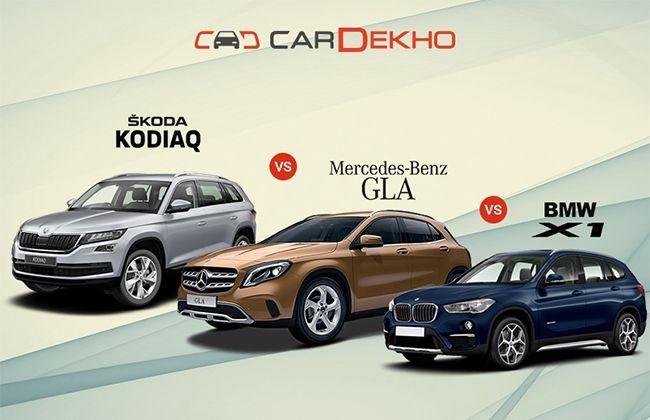 Skoda kodiaq vs mercedes benz gla vs bmw x1 spec for Mercedes benz x1