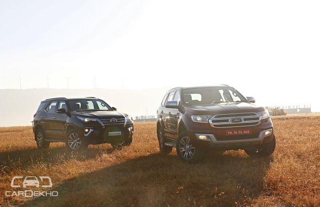 Toyota Fortuner and Ford Endeavour